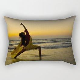 Yogi Sunset over Indian Ocean Rectangular Pillow