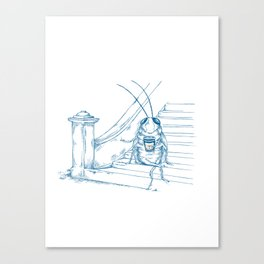Cup O' Coffee NYC Style_cockroach Canvas Print