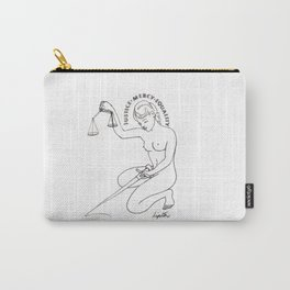 JUSTICE    by  Kay Lipton Carry-All Pouch