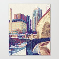 Stone Arch Bridge Canvas Print