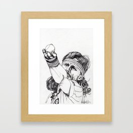 Tennis Bjorn Borg Framed Art Print