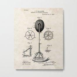 Striking or Punching Apparatus Vintage Patent Hand Drawing Metal Print