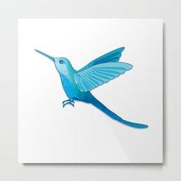 Blue hummingbird colibri Metal Print