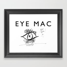 EYE MAC Framed Art Print
