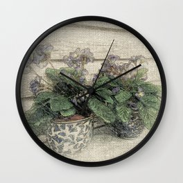 'Violets are Blue' Wall Clock