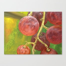 Red grape Canvas Print