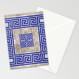 Greek Key Ornament - Lapis Lazuli and Gold #2 Stationery Cards