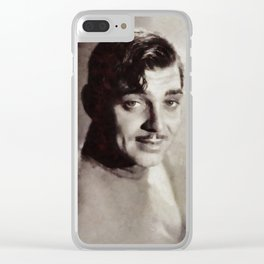 Clark Gable, Vintage Actor Clear iPhone Case