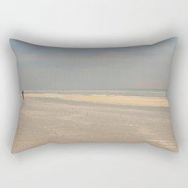the photographer on the beach Rectangular Pillow