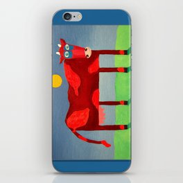 Udderly Confused - Funny Cow Art iPhone Skin