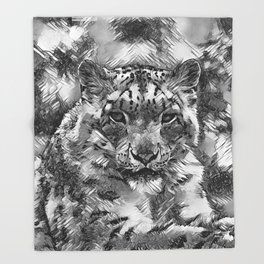 AnimalArtBW_Leopard_20170601_by_JAMColorsSpecial Throw Blanket