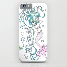 Born to be a Mermaid iPhone Case