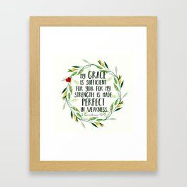Perfect Grace Framed Art Print