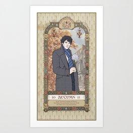 Sherlock Victorian Language of Flowers - Autumn Art Print