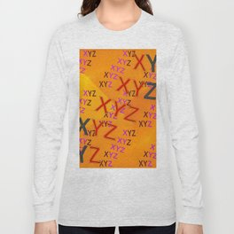 XYZ - pattern Long Sleeve T-shirt