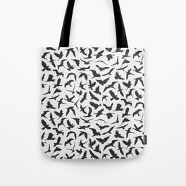 illustration of seamless pattern of flying birds Tote Bag