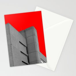 brutalist red Stationery Cards