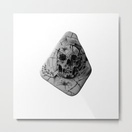 Skull Habitat for Spiders by annmariescreations Metal Print
