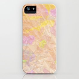 Abstract painting on a stone iPhone Case