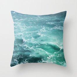 Sea Waves   Seascape photography Throw Pillow