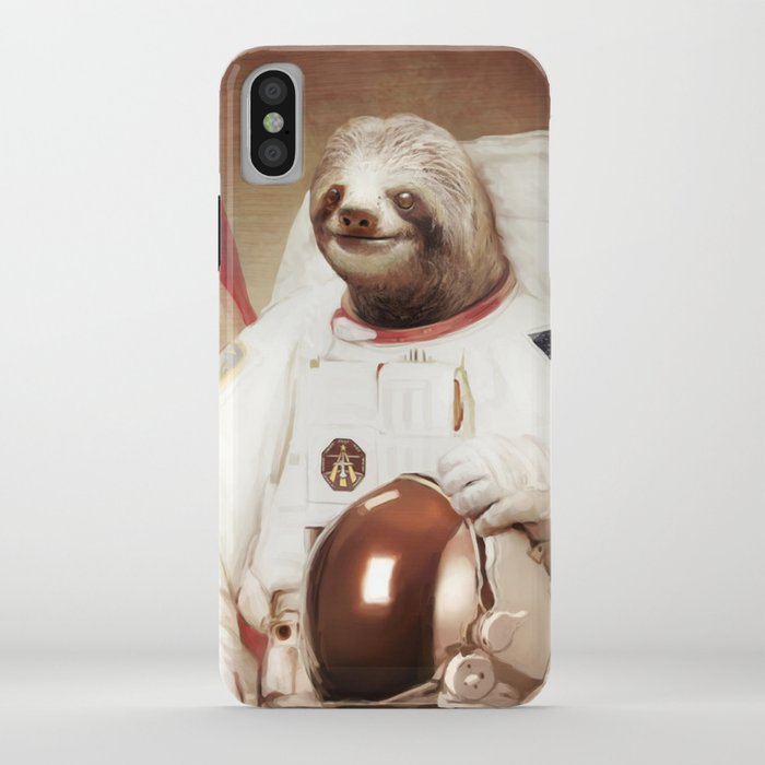sloth astronaut iphone case