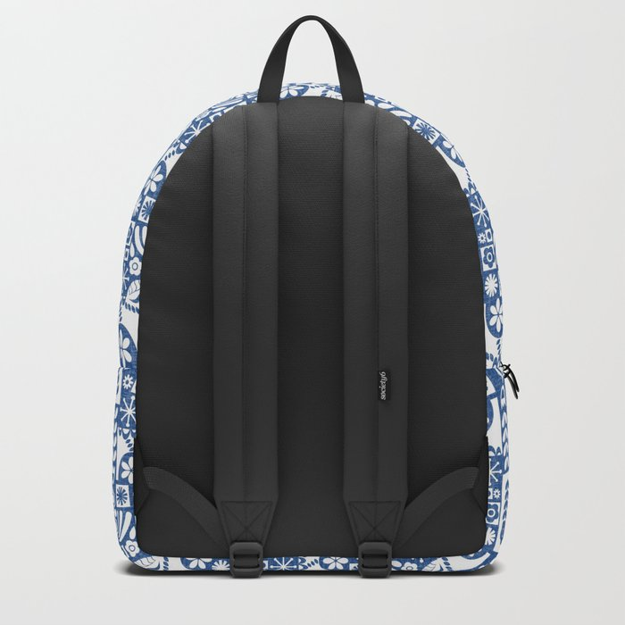 Swedish Folk Art - Blue Backpack