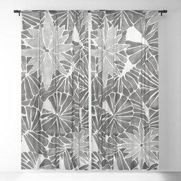 Water Lilies – Black Sheer Curtain