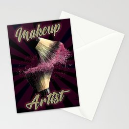 Makeup Artist, Make up Fashion Stationery Cards