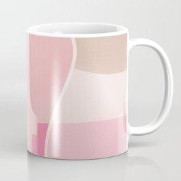 EMMA :: Modern Abstract Painting Brush Strokes Color Palette Light Pink Fuchsia Blush Pop Art Coffee Mug