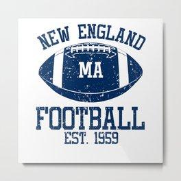 New England Football Fan Gift Present Idea Metal Print