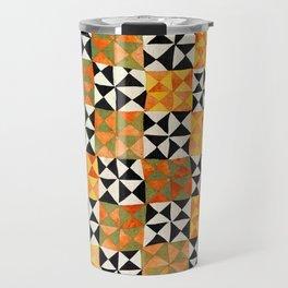 North Afghanistan Cotton Quilt Print Travel Mug
