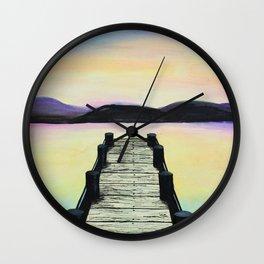 Tranquility lake Wall Clock