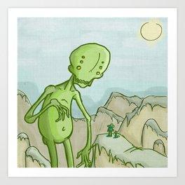 Big Ghoul Art Print