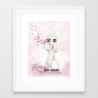 fashion illustration Framed Art Prints featuring FASHION ILLUSTRATION 9 by Justyna Kucharska