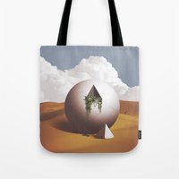 desert Tote Bags featuring Desert by lacabezaenlasnubes