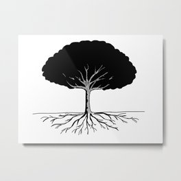 A Tree Needs Roots Metal Print