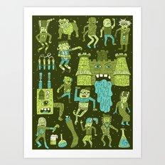 Wow! Frankensteins! Art Print