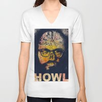 howl V-neck T-shirts featuring Howl by Alec Goss