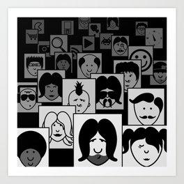 SF Guess Who? Art Print
