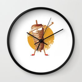 Food Puns Dabber Foodies Food Lovers Gift Shawarma Dab Wall Clock