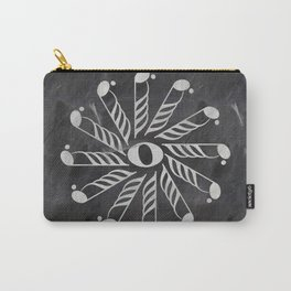 Music mandala 3 on chalkboard Carry-All Pouch