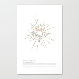 """Neutral Milk Hotel - """"In The Aeroplane Over The Sea"""" - Radial Dots Infographic Art Print Canvas Print"""