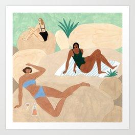 Lido Swimwear - On the Rocks Art Print