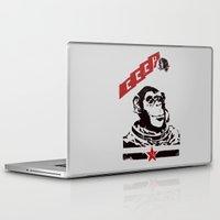 soviet Laptop & iPad Skins featuring Soviet Space Monkey by Chris Kawagiwa