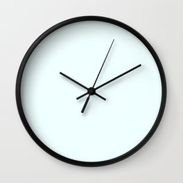 Cheap Solid Light Azure Blue Color Wall Clock