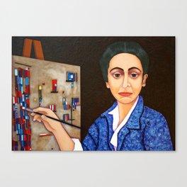 M. Helena Vieira da Silva - dialogue between abstraction and figuration Canvas Print