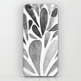 Watercolor artistic drops - black and white iPhone Skin