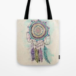Modern tribal hand paint dreamcatcher mandala design Tote Bag