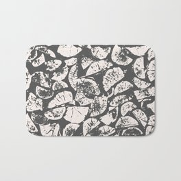 abstract pattern, Firewood texture, tree cut, gray and beige grunge wood background Bath Mat