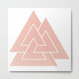 Valknut Icelandic Pink Metal Print